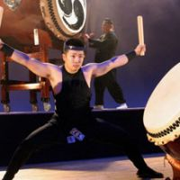 Raw energy: Members of Amanojaku play taiko at a 2006 concert. The ensemble will give concerts at the Nerima Bunka Center in Tokyo on Aug. 13 and 14, playing selections that symbolize the strong ties between Japan and Brazil. | NAOKAZU OINUMA