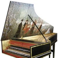 Chords: This harpsichord built by a former Kyoto University professor and painted by artist Satoshi Mabuchi will be showcased in an Oct. 5 recital in Kyoto. | SATOSHI MABUCHI PHOTO