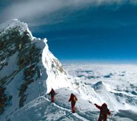 A scene from 'Farther Than the Eye Can See,' a film by Michael Brown about the world's first blind man to scale Everest, that will screen at the Himalaya Film Festival in Tokyo.