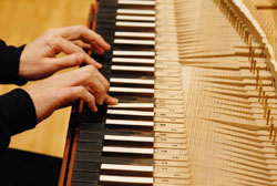 Tickling the strings: The clavichord, a rare instrument from the 17th and 18th centuries, takes center stage in Kobe this week.