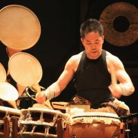 Hayashi drums up a birthday performance