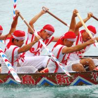 Southern spirit: Boat races are a major part of the various events that mark the Hare Festival in Okinawa Prefecture. | PHOTO COURTESY OF THE CITY OF ITOMAN