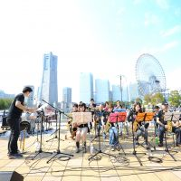 Beat it: Musicians play Yokohama Jazz Promenade last year. © masanori naruse