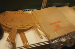Plastic products made from Japan's surplus rice reserve