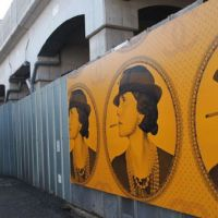 New murals decorate old back streets.   JON MITCHELL PHOTOS
