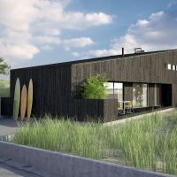 Make yourself a home: A rendering of a weekend house in Onjuku, Chiba Prefecture, designed to the landowner's specifications by the design firm Bakoko. | COURTESY OF BAKAKO