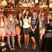 Cute Japan: On the set of NHK's new TV show 'Kawaii International,' with hosts Mari Sekine, Melody Yohko, and Misha Janette (center three) joined by Tokyo street-fashion icons.