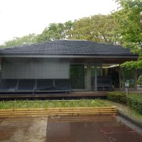 Making the most of the sun: The prototype of Omotenashi House (above) at the Nishi-Chiba campus of Chiba University in late April —just before it was dismantled and taken to Spain to enter the Solar Decathlon Europe 2012.