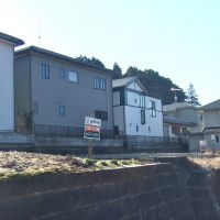 Get to know the folks next door: Cramped housing, like this group of buildings in Inzai, Chiba Prefecture, shows how some properties in Japan are built only meters apart from each other.