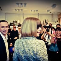 For the fans: America Vogue editor-in-chief Anna Wintour is greeted by fans at FNO 2011. | MAMI TANABE