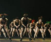 'Muscle Musical' members close one of their performances with a body-slapping routine. | DIGITAL NINE CO. PHOTOS