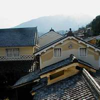 A view over the roofs of Yokaichi from the Japanese Wax Museum and Kami-Haga Residence
