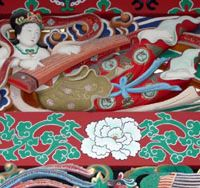 A detail of the exquisite artwork in Masamune Date's mausoleum