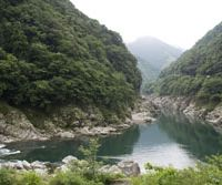 A bend in the Yoshino River