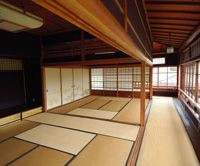 Room with a view: Kiunkaku's second floor reception hall has a wall of windows facing the garden