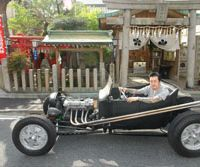 Tattoo artist Masato with his 1923 Ford T-bucket   MICHAEL MCCABE PHOTOS