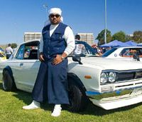Enthusiasts: This rare 1972 Nissan Skyline won Best in Show at the 2008 Japanese Classic Car Show held in Irvine, California. Below: Toyota USA enters its collection. | ©DAN HSU