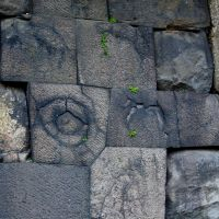 Burnt offerings: Stones at the Chujakumon Gate bearing the scars of Edo Castle fires.