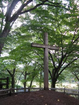 A cross marks the spot: In 1935, Kiyomaro Takenouchi, from a line of custodians of the 'Takenouchi Documents' — a supposedly very ancient collection of papers that tell of Christ's life in Japan — was led to two mounds in the village of Herai in what is now the town of Shingo. In what was then a bamboo grove, he identified one of the mounds as being the grave of Jesus and the other as the last resting place of an ear of a younger brother named Isukiri, along with a lock of the Virgin Mary's hair. | WINIFRED BIRD