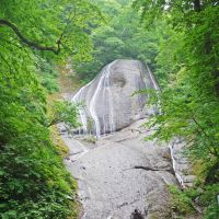 Baffling beagle: Miroku-no-taki (The Waterfall of Bodhisattva) in Takko, southern Aomori Prefecture, is known as Snoopy Waterfall, as the giant rock surface resembles the cartoon dog.