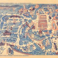 The original planning map of the Nerima Ward park shows tennis, baseball and track sports facilities.