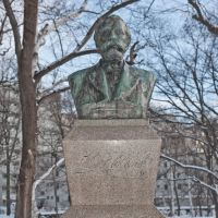 Old school: Dr. William S. Clark's bust at Hokkaido University, which he founded.