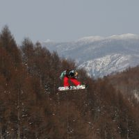 Zoom with a view: Japan's top snowboarders often ride in Fukushima, whose excellent runs and gorgeous vistas remain unchanged after 2011's triple-disaster. | CHRISTOPHER JOHNSON