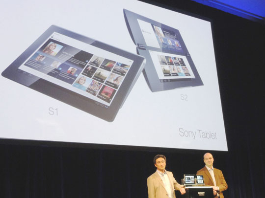 Sony jumps into tablet fray with two models