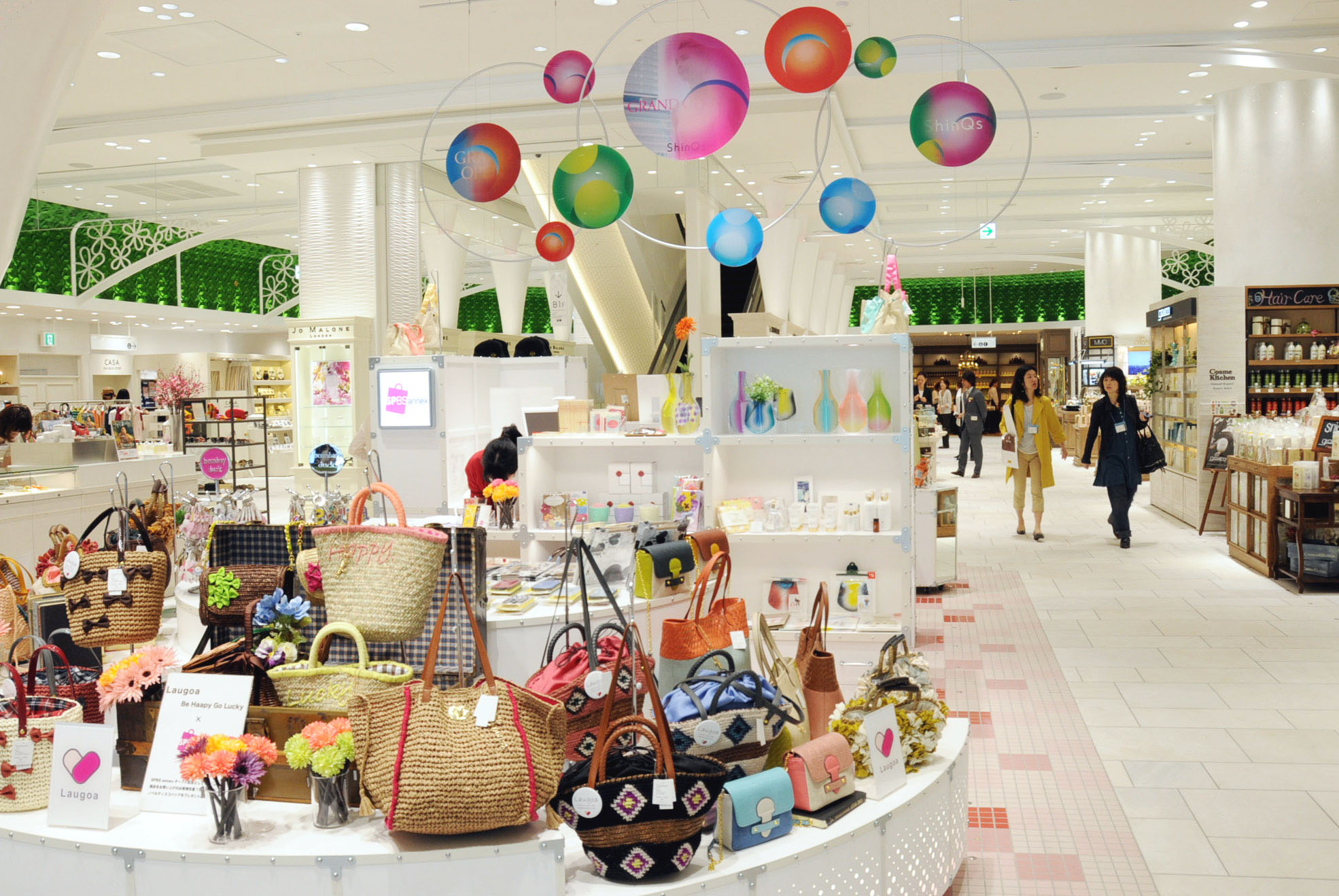 In the bag: Bags, cosmetics and 'zakka' products are displayed on Shibuya Hikarie's shopping floor during a media preview Tuesday in Tokyo's Shibuya Ward. | SATOKO KAWASAKI