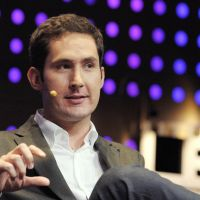 Battle of the titans: Instagram CEO Kevin Systrom addresses a conference in Paris on Dec. 5. | AFP-JIJI