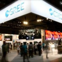Gree's booth was the largest at Tokyo Game Show (though far from the busiest).