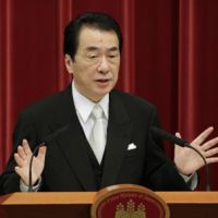 Back to work: Prime Minister Naoto Kan stresses the need for tax reforms, including a consumption tax hike, during his first news conference of the year Jan. 4 at the Prime Minister's Official Residence. | KYODO PHOTO