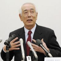 Top dog: Masayuki Matsumoto, vice chairman of Central Japan Railway Co., holds a news conference on Saturday in Nagoya after being named NHK's new president. | KYODO PHOTO