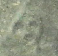 Here's looking at you: A geoglyph of a human head, recently discovered by researchers from Yamagata University, is seen on the Nazca Plateau in Peru. | KYODO PHOTO/YAMAGATA UNIVERSITY