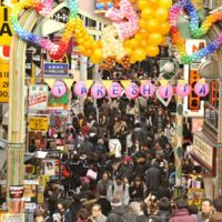 Youthful paradise: Known for its many fashion outlets and stores that cater to pop idols, the street known as Takeshita-dori is a popular spot in Harajuku for young visitors. | YOSHIAKI MIURA PHOTOS