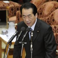 Facts and figures: Prime Minister Naoto Kan speaks during the session of the Lower House Budget Committee on Monday. | KYODO PHOTO