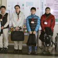 Care team: Child care specialists from across the nation gather in Morioka, Iwate Prefecture, on March 25 to search and care for children orphaned by the March 11 earthquake and tsunami.   KYODO PHOTO