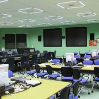 Room without a view: An operation room in a quake-proof building at the Fukushima No. 1 plant, where Tokyo Electric Power Co. employee Yasuki Murata has spent most of his time since March 11, is seen in this Tepco handout.   TEPCO / KYODO
