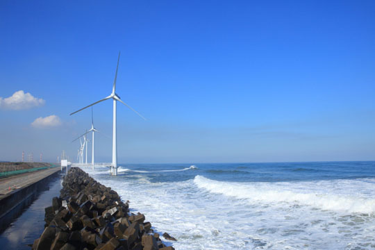 Offshore windmills weather crisis