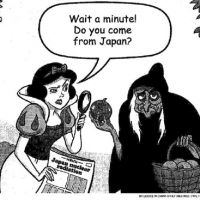 Bad apple: This cartoon depicting Snow White was printed in the Thursday's edition of the International Herald Tribune. | KYODO PHOTO