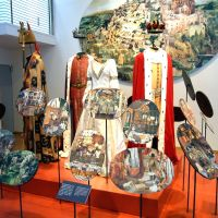 Queen's collection: Costumes used in the Danish film 'The Wild Swans' and decoupage are on display Wednesday at an exhibition at Hillside Plaza in Tokyo's Shibuya Ward.   SATOKO KAWASAKI PHOTO