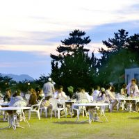 Chance of a lifetime: Men and women mingle at a 'gokon' get-together in Hagi, Yamaguchi Prefecture, in September. The event was held to help unwed fishermen meet prospective partners. | KYODO PHOTO