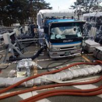 Water cooler: An emergency water injection unit pumps coolant into a reactor at the Fukushima No. 1 power station Feb. 20. | POOL