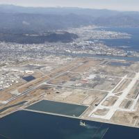 Waterfront property: Marine Corps Air Station Iwakuni in Yamaguchi Prefecture is located at the mouth of the Nishiki River. | KYODO