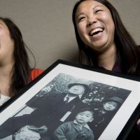 Background checked: Hillary Nakano (left), a fellow at the Washington office of the Japanese American Citizens League, shares a laugh with Kaitlin Inamasu, a student at George Washington University. Nakano said when she told peers in Japan of the wartime internment of Japanese-Americans, they had no idea what she was talking about. | THE WASHINGTON POST