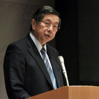 Looking to the future: Philippine Ambassador Manuel Lopez gives a lecture at Aoyama Gakuin University in Tokyo on Tuesday. | YOSHIAKI MIURA
