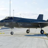 Sight unseen: An F-35 fighter jet is shown in an undated file photo provided by its manufacturer, Lockheed Martin. | KYODO