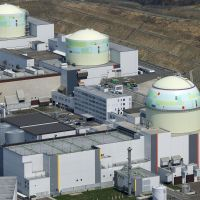 At rest: Reactors (from left) 1, 2 and 3 at Hokkaido Electric Power Co.'s Tomari nuclear plant, seen April 22, are now all offline. | KYODO