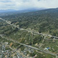 Taking its toll: The New Tomei Expressway (above), as seen last month, runs parallel to the Tomei Expressway in Gotemba, Shizuoka Prefecture. | KYODO
