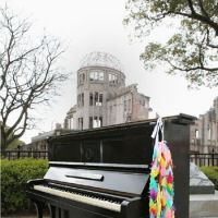 Still upright: 'Kazuko's piano,' which survived the 1945 U.S. atomic bombing of Hiroshima, will have its ivories tickled in Tokyo on Sunday.   KYODO